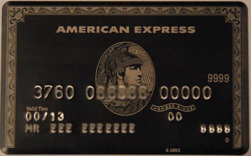 Tarjeta Centurión de American Express