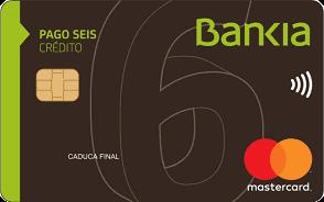 Tarjeta Pago Seis Bankia