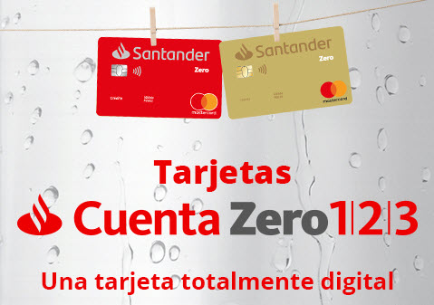 Tarjeta Crédito mi otra zero 1/2/3 Santander