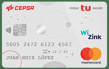 Tarjeta MasterCard CEPSA porque tú vuelves Wizink