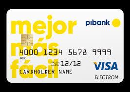 Tarjeta de débito Pibank
