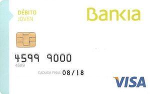 Tarjeta de débito Joven Bankia