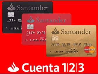 Tarjeta débito oro 123 Santander