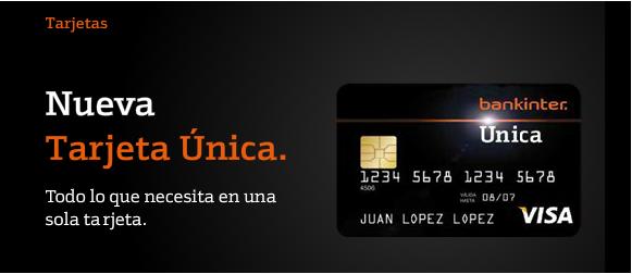 Tarjeta débito Bankinter